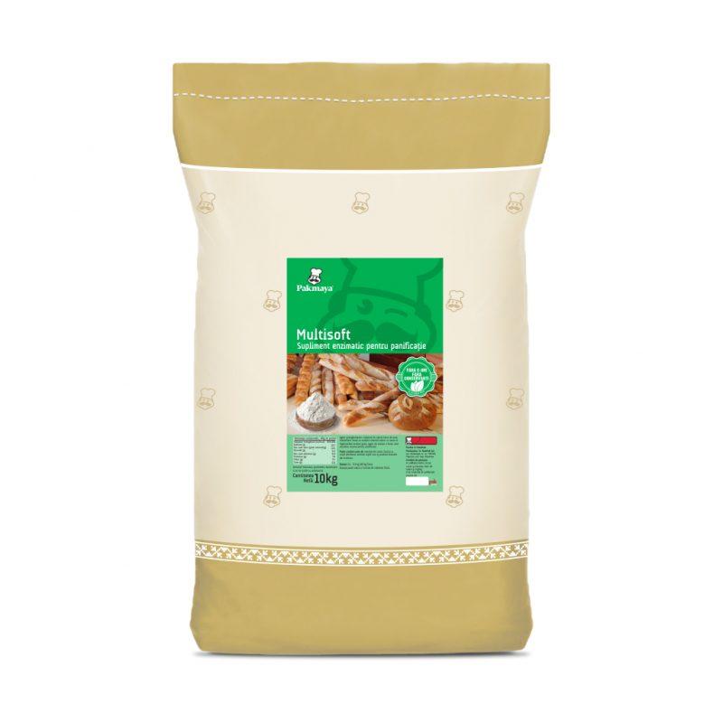 Supliment enzimatic Multisoft - Pakmaya, corector făină în brutărie, sac 10kg